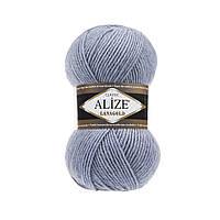 Полушерстяная пряжа (49%-шерсть,51%-акрил,100г/240м) Alize Lanagold 221(св.джинс меланж)