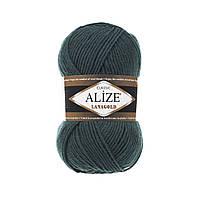 Полушерстяная пряжа (49%-шерсть,51%-акрил,100г/240м) Alize Lanagold 426(петроль)