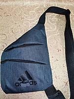 Сумка через плечо слинг мужской мини рюкзак бананка с карманами модный хит 193-41