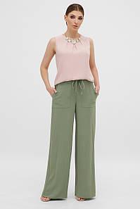 Летние женские расширенные брюки