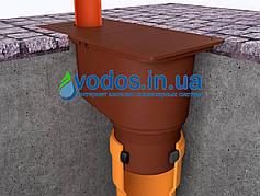 Дождеприемник с отводом вниз Коричневый 1821 ZMM Maxpol - Бокс водосточный