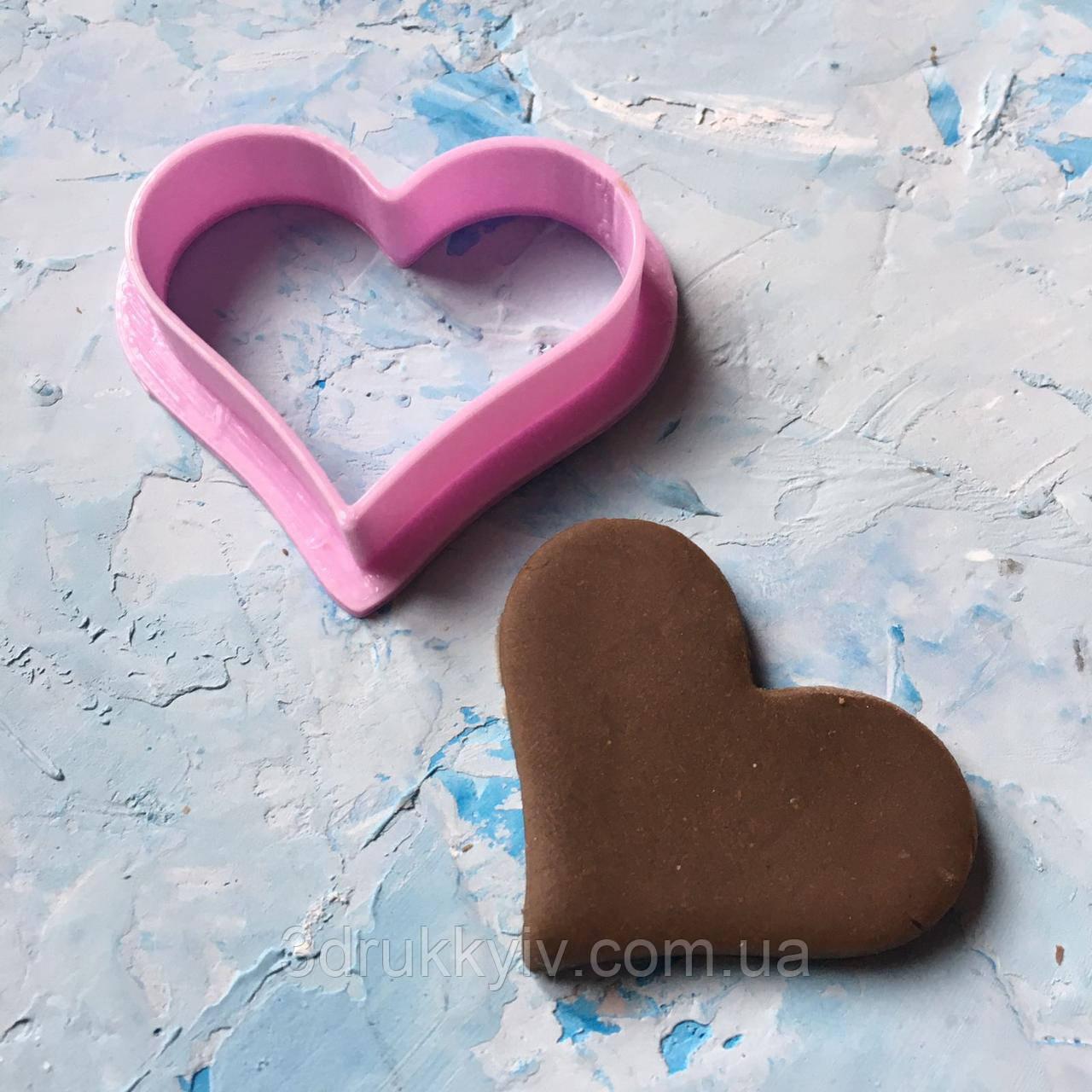 """Вирубка """"Серце #12"""" / Вырубка - формочка для пряников """"Сердце#12"""""""