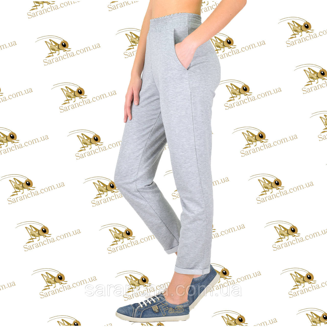 Стильні брюки меланж двунітка