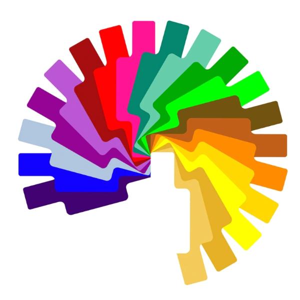 Гелевые цветные фильтры для вспышек  7х6см набор, 20 шт