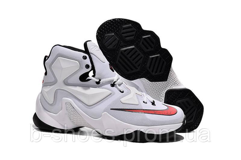 Мужские баскетбольные кроссовки Nike Lebron 13 (White/Black/Red)