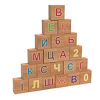"""Кубики дерев'яні  """"Абетка"""" Graisya"""