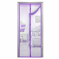 Шторка антимоскитная для дверей на магнитах 100*210 фиолетовая
