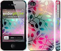 Силиконовый чехол Endorphone на iPhone 4s Листья 2235u-12-26985, КОД: 1710606