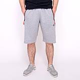 Чоловічі трикотажні шорти Nike, світло-сірого кольорую великого розміру, фото 2