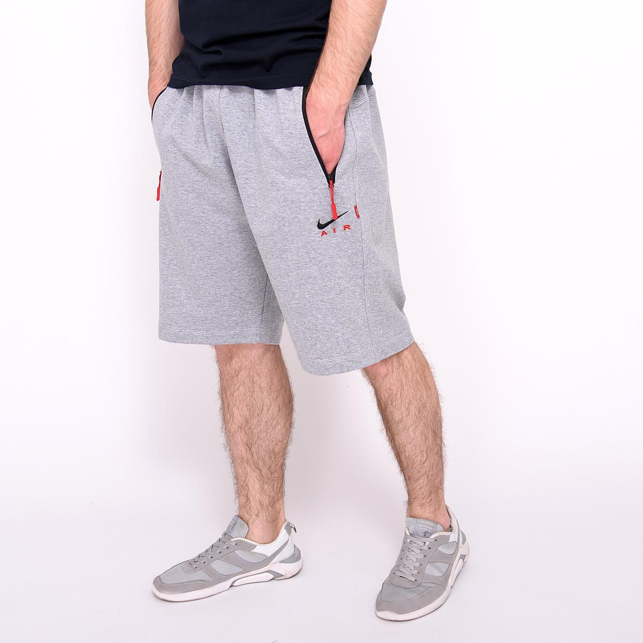 Чоловічі трикотажні шорти Nike, світло-сірого кольорую великого розміру