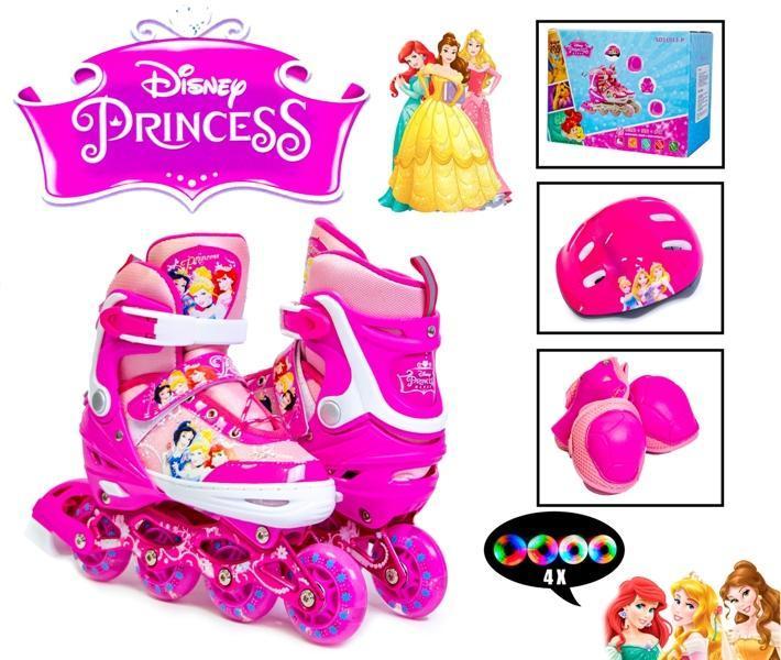 Копмлект роликов Disney. Princess. р.29-33. Все колеса светятся!