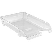 Лоток горизонтальний Delta А4 пластиковий, прозорий