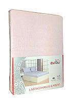 Махровая простынь на резинке с наволочками Пудровый цвет, фото 1