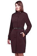 Модное женское пальто с пояском