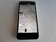 Iphone 5c 16gb белый потертое состояние. Побит экран № 225