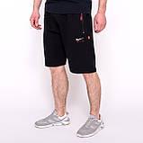 Чоловічі трикотажні шорти Nike, світло-сірого кольорую великого розміру, фото 5