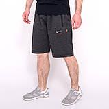 Чоловічі трикотажні шорти Nike, світло-сірого кольорую великого розміру, фото 4