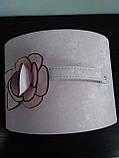 Шкатулка сундучок для украшений,большая кожаная розовая с цветком, фото 10