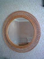 Зеркало в рамке из лозы