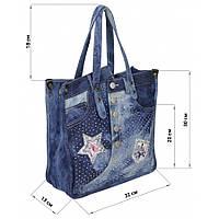 Джинсовая сумочка женская. Модная сумка летняя, тканевая