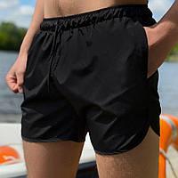 Мужские шорты пляжные (летние, для купания) черные