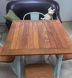 Стол Tolix Table АT-236U 80х80 белый тиковая столешница для открытых площадок (Accord), фото 5