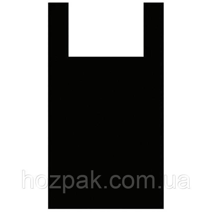 "Пакет майка ""Черная очень плотная"" 50х90 (20 шт.)"