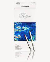 Карандаши Raffine, 12 цветов, шестигранные, ТМ Marco (12шт)