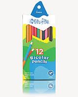 """Карандаши Colorite, 24 цвета(12шт), шестигранные, Пегашка, ТМ """"Marco"""" (12шт)"""