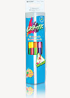 Карандаши Grip-Rite, акварельные, двухсторонние 12шт, 24 цвета, треугольные, ТМ Marco (12шт)