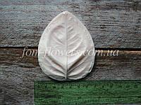 Молд Лист Троянди XXL 8х6,5 см, фото 1
