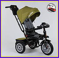 Велосипед 3-х колёсный  Best Trike тёмно-зелёный, складной руль