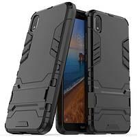 Противоударный чехол Armor для Xiaomi Redmi 7A Black (мужской чехол на Сяоми Редми 7A Черный)