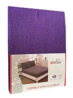 Простынь на резинке на матрас 180*200 Фиолет
