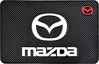 Противоскользящий коврик в машину Mazda (20х13 см)
