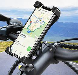 Крепление для телефона на велосипед Queshark 360 (12-18 см)