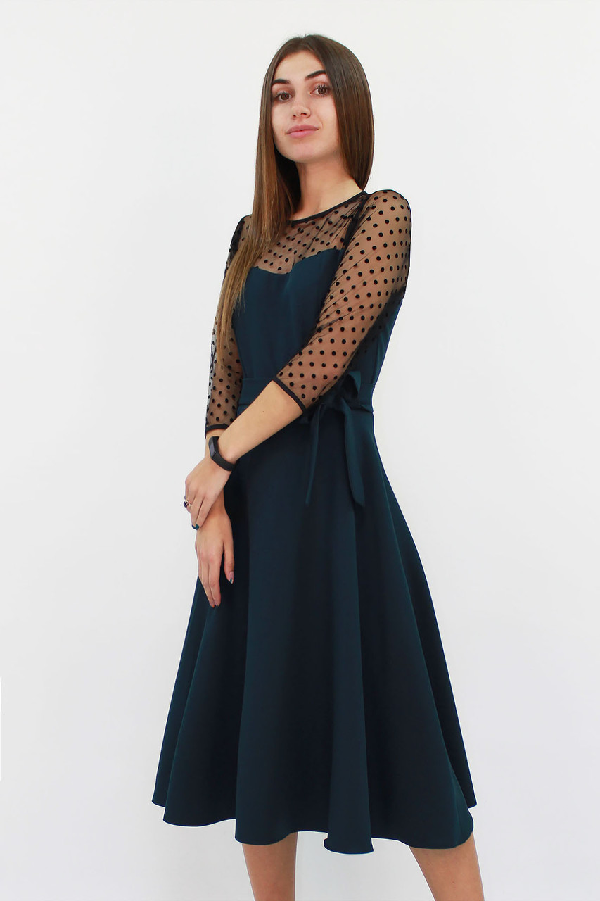 S, M, L, XL   Вишукане жіноче плаття Blade, темно-зелений