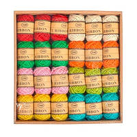 24шт. Цветной джутовый шнур бечевка шпагат для декора отделки мотки по 10м 8 цветов набор