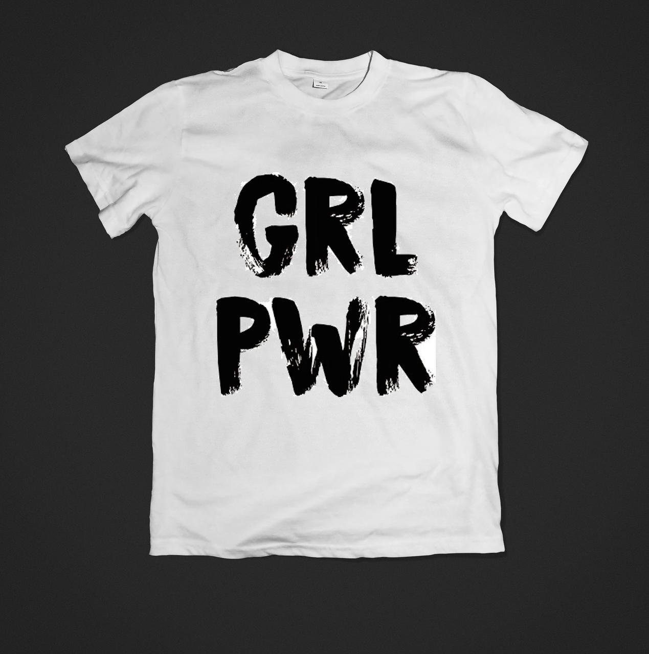 Футболка жіноча для модниць з принтом grl pwr