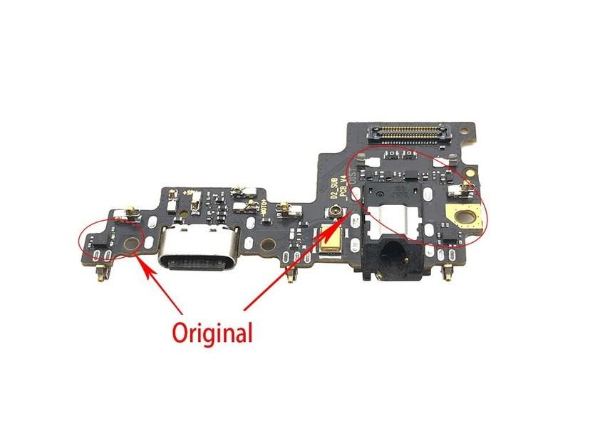 Плата нижняя (плата зарядки) Xiaomi Mi A1 | Mi5x с разъёмом зарядки и компонентами (Original)