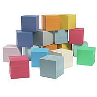 Кубики дерев'яні, різнокольорові Graisya