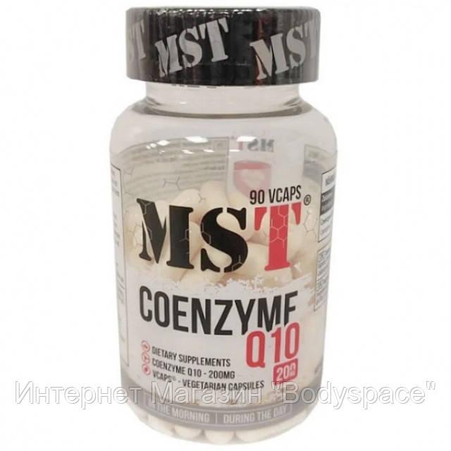 MST Sport Nutrition, Коэнзим Coenzyme Q10 200 mg, 90 капсул
