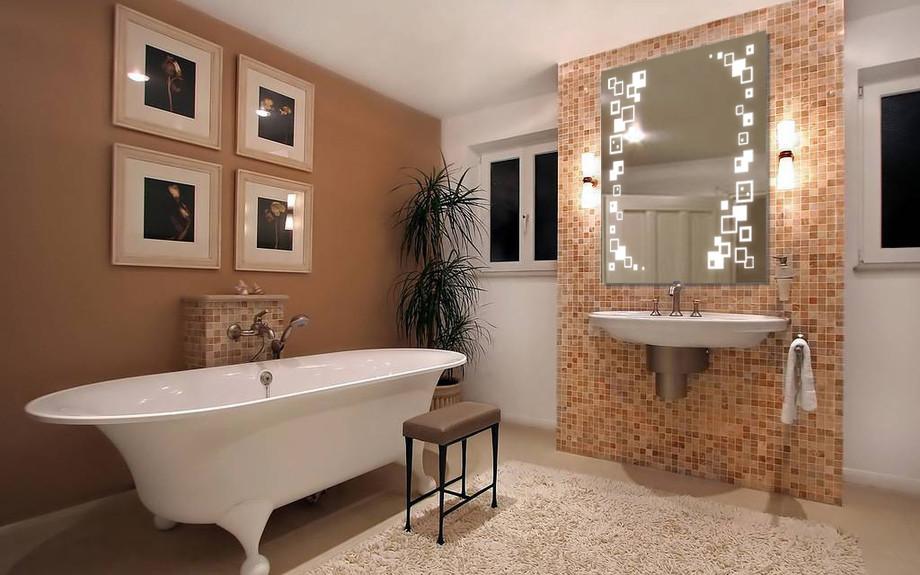 Зеркало LED (80*68*3см) VZ-D32 c полкой