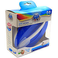 Тарелка-миска Canpol Babies Голубой с удобной ручкой, крышкой и ложкой (31/406), фото 3