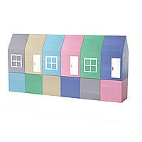 """Кубики дерев'янні  """"Будиночки"""" Graisya"""