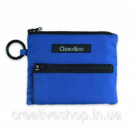 Синий чехол ChiaoGoo для спиц Shorties