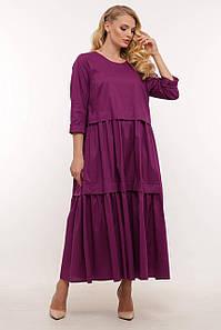 Длинное летнее платье А-силуэта больших размеров 54-64
