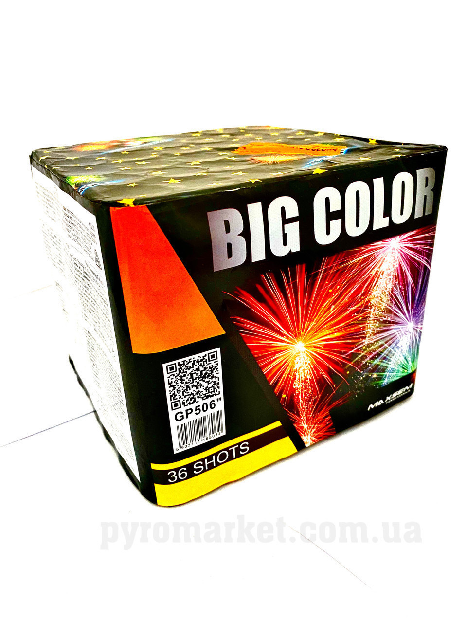 Салют Big Color Maxsem GP506-36, 36 выстрелов 25 мм