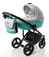 Детская универсальная коляска Broco Porto 2 в 1, серо-голубая (7080)