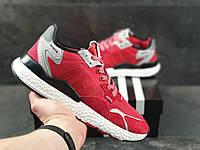 Кроссовки мужские Adidas Nite Jogger Boost 3M, демисезонные,  красные в стиле Адидас, фото 1